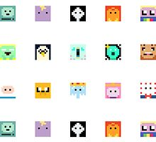 Adventure Time 8-bit Sprite Stickers by d13design