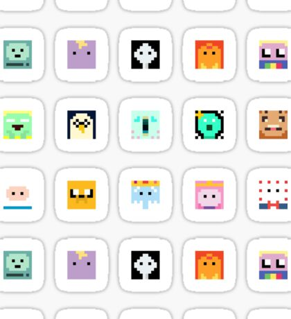 Adventure Time 8-bit Sprite Stickers Sticker