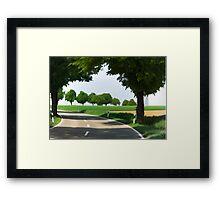 road to Bibertal I Framed Print