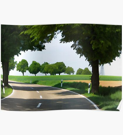 road to Bibertal I Poster