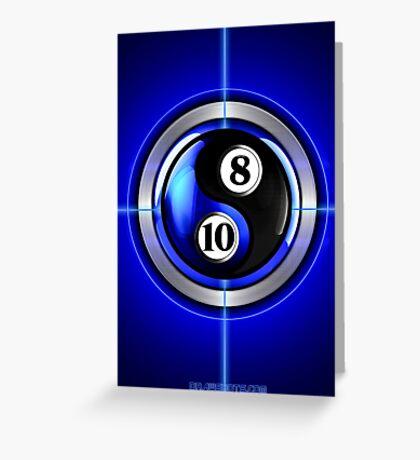 8 and 10 yin and yang Greeting Card