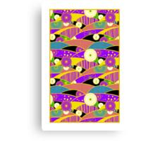 Chiyogami Lavender & Saffron [iPhone / iPod Case & Print] Canvas Print