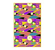 Chiyogami Lavender & Saffron [iPhone / iPod Case & Print] Photographic Print