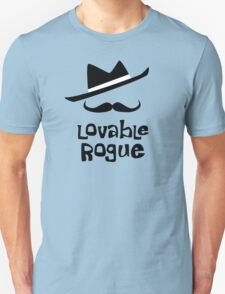 Lovable Rogue - funny vector graphic with mustache and fancy hat Unisex T-Shirt