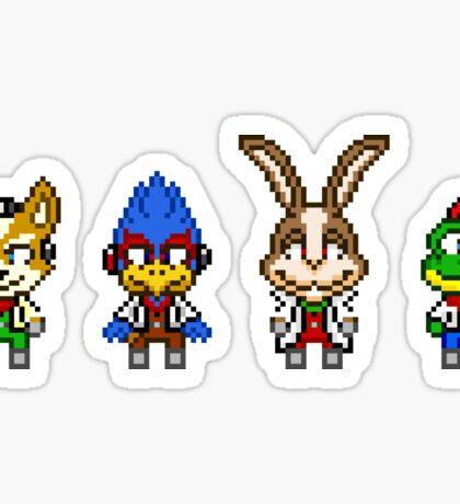 Star Fox Team Mini Pixels Sticker