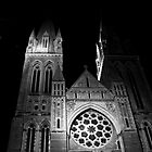 Truro Cathedral Black and White by Paul Howarth