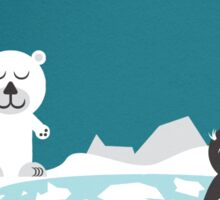 Icebear & friend Sticker