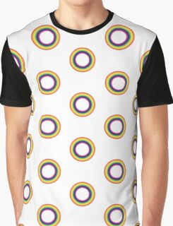 Circle Rainbow Graphic T-Shirt