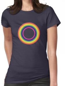 Circle Rainbow Womens Fitted T-Shirt