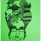 The Cat Lady In Green by TalulaChristian