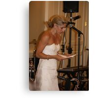 Bride's Speech Canvas Print