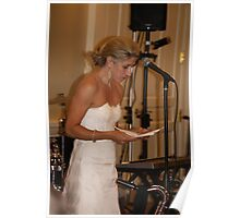 Bride's Speech Poster