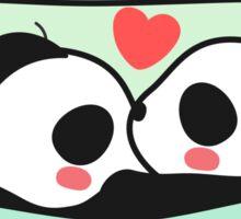 Sweet Dream Panda Couple Sticker Sticker