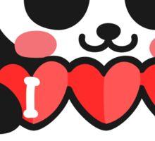 I Love You by Panda Sticker Sticker