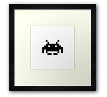 Space Invader Framed Print