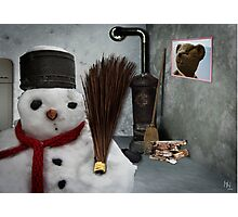 snowman at home Photographic Print