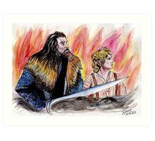 Bilbo and Thorin, Martin Freeman and Richard Armitage Art Print