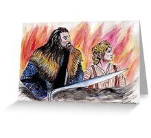 Bilbo and Thorin, Martin Freeman and Richard Armitage Greeting Card