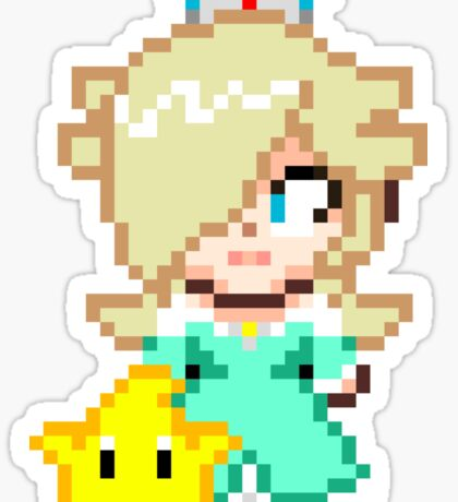 Rosalina and Luma - Smash Bros Mini Pixel Sticker