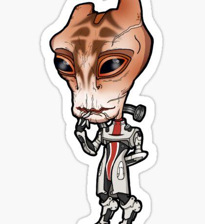 Mass Effect - Mordin Solus Salarian Scientist Chibi Sticker Sticker
