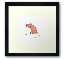 Sitting Pig Framed Print