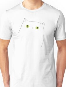 White Cat Face Unisex T-Shirt