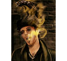 Tom Waits with crow Photographic Print