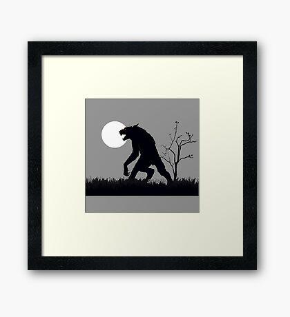 goosebumps werewolf Framed Print