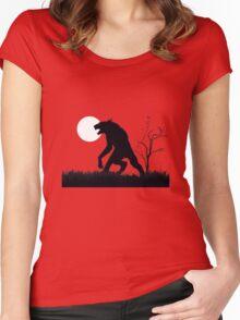 goosebumps werewolf Women's Fitted Scoop T-Shirt