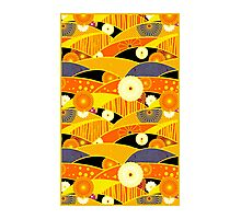 Chiyogami Tangerine & Blueberry [iPhone / iPod Case and Print] Photographic Print