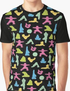 Rainbow Yoga Pattern Graphic T-Shirt