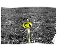 Electric fence Poster