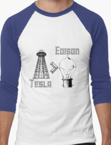 Tesla superiority Men's Baseball ¾ T-Shirt