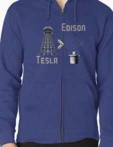 Tesla superiority Zipped Hoodie