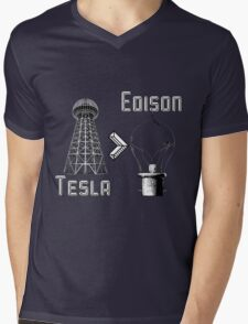 Tesla superiority Mens V-Neck T-Shirt
