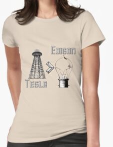 Tesla superiority Womens Fitted T-Shirt