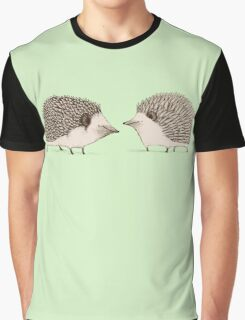 Two Hedgehogs Graphic T-Shirt