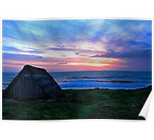 Celtic Beach Hut Poster