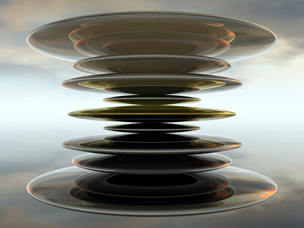 Stacked Discs II by Hugh Fathers