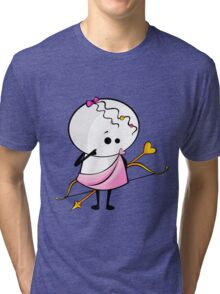 angel with bow and arrow Tri-blend T-Shirt