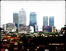 Canary Wharf Skyline by Benedikt Amrhein