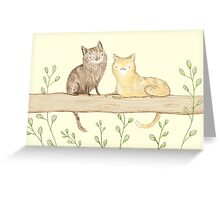 Cats on the Fence Greeting Card