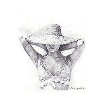 Straw Hat Photographic Print