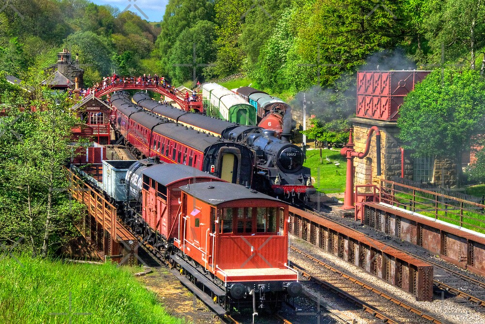 Trains at Goathland Station by Tom Gomez