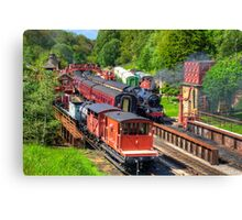 Trains at Goathland Station Canvas Print
