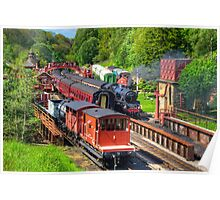 Trains at Goathland Station Poster
