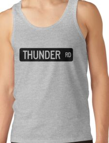Thunder Road street sign Tank Top
