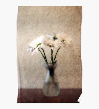 Small Vase of Daisies Poster