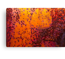 Sunset - Rust And Metal Series Canvas Print