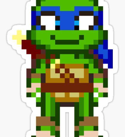 Leo TMNT 2012 Mini Pixel Sticker
